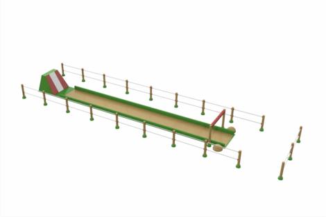 1420 9825 Belly Slide Green