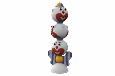 1110 8935 Clowns Totem Three Headed