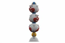 1110 8935 Clowns Totem Three Headed Za