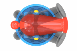1110 9036 Water Cannon Revolving Ba
