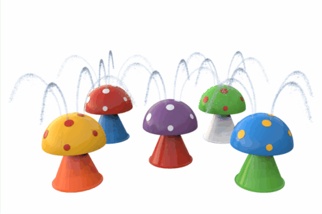 1110 9702 Surprise Fountain Mushrooms 5Pcs