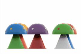 1110 9702 Surprise Fountain Mushrooms 5Pcs Za