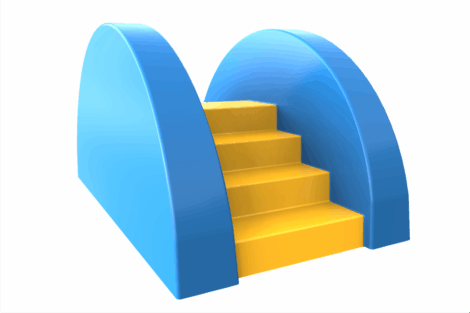 1110 9930 Pool Steps Blue