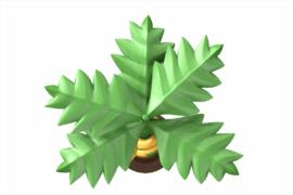 1120 9607 Palm Tree With Snake Ba