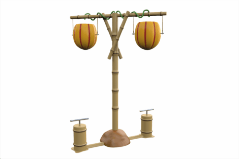 1120 9838 Tumble Mangos With Hand Pumps