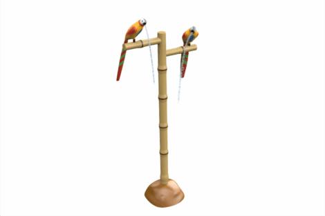 1120 9929 Parrots On Pole