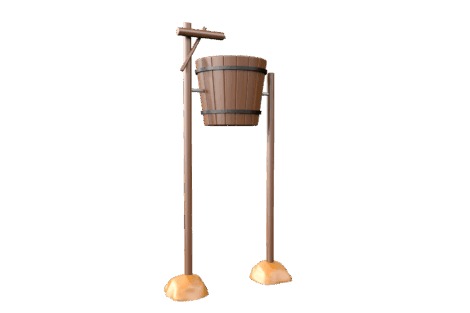 1130 9906 Giant wooden tumble bucket