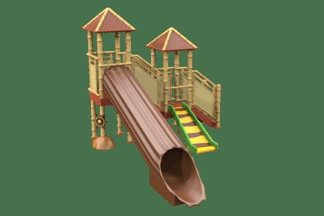 1320 9902 Jungle waterplayground with treetrunk