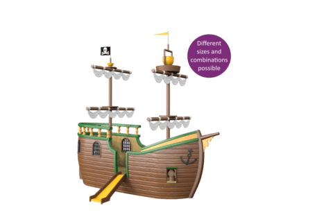 1540 4000 Pirate ship button