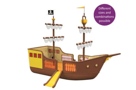 1540 4001 Pirate ship classic button