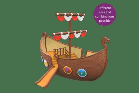 1590 4000 Viking ship button