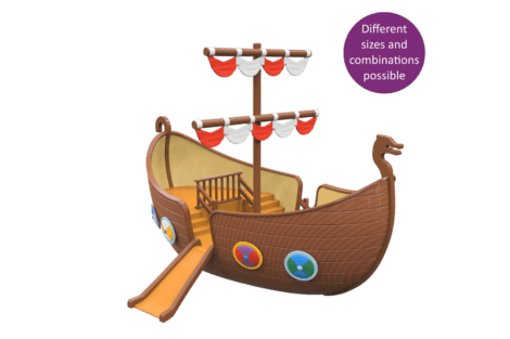 1590 4000 Viking ship button