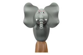 1120 9052 Jungle elephant va