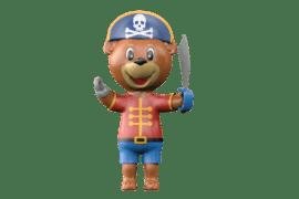 1140 9631 Pirate mascot bear va