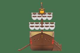1540 4001 Pirate ship classic va