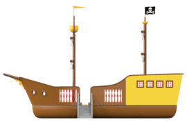 1540 4001 Pirate ship classic za links