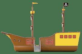 1540 4001 Pirate ship classic za links