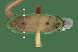 1540 4002 Pirate ship wreck container model ba kopie