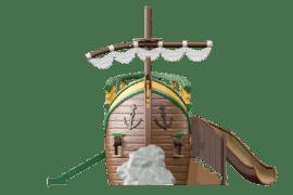1540 4002 Pirate ship wreck container model va